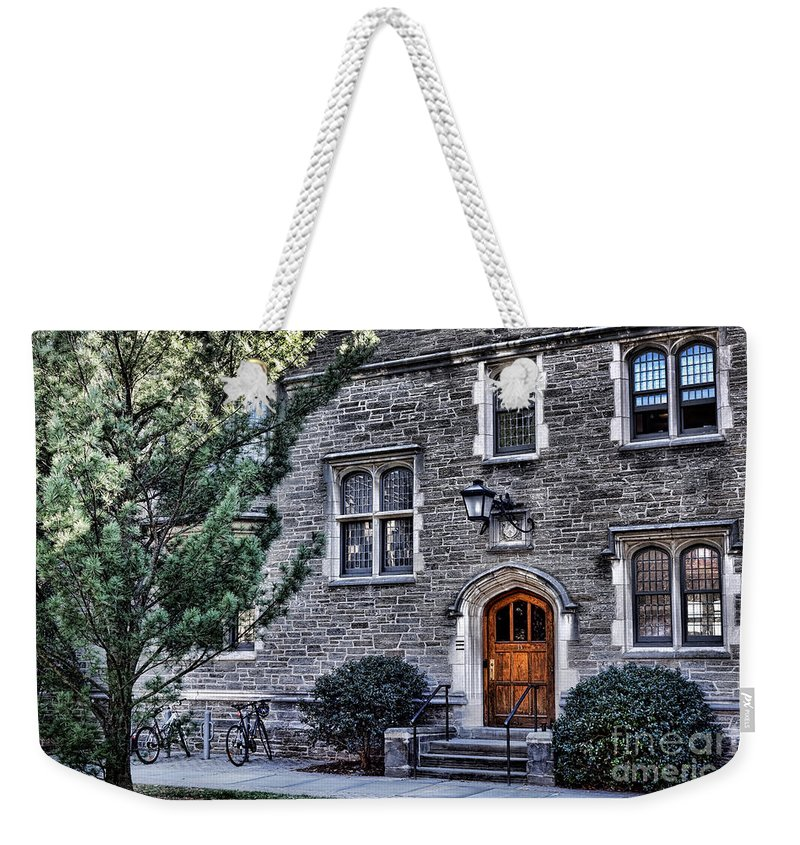Princeton Weekender Tote Bag featuring the photograph Princeton University Little Hall by Olivier Le Queinec