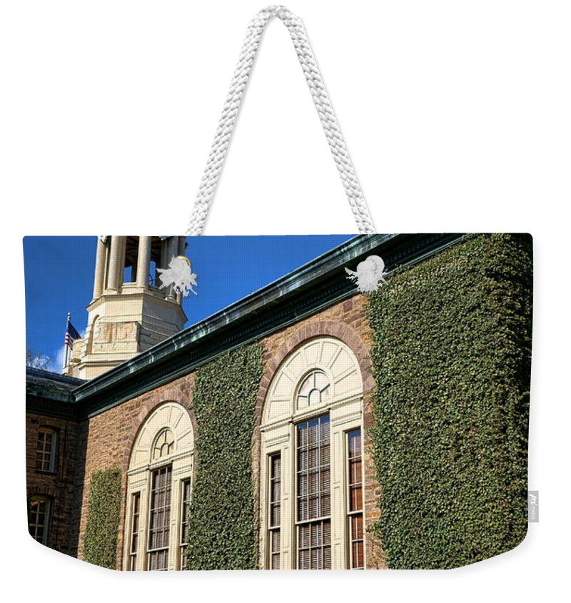 Princeton Weekender Tote Bag featuring the photograph Princeton University Nassau Hall Cupola by Olivier Le Queinec