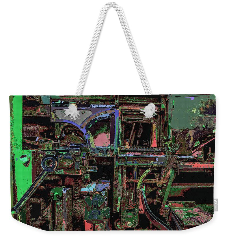 Printing Some Color Weekender Tote Bag featuring the photograph Printing Some Color by Kenneth James