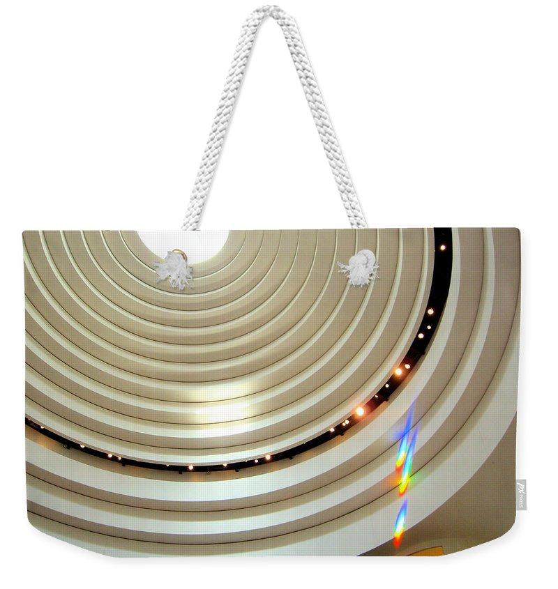 Light Weekender Tote Bag featuring the photograph Prism by Julie Niemela