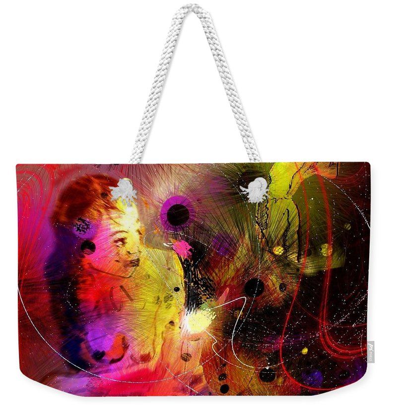 Nudes Weekender Tote Bag featuring the painting Prisoner Of The Past by Miki De Goodaboom