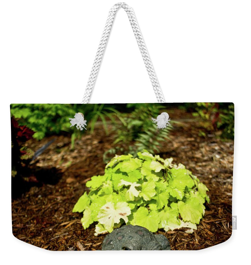 Private Weekender Tote Bag featuring the photograph Private Garden Go Away by Douglas Barnett