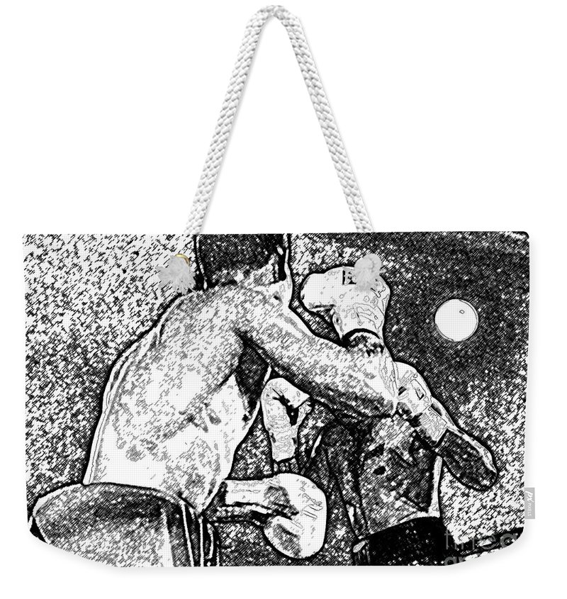 Prize Fighting Weekender Tote Bag featuring the photograph Prize Fighters by David Lee Thompson
