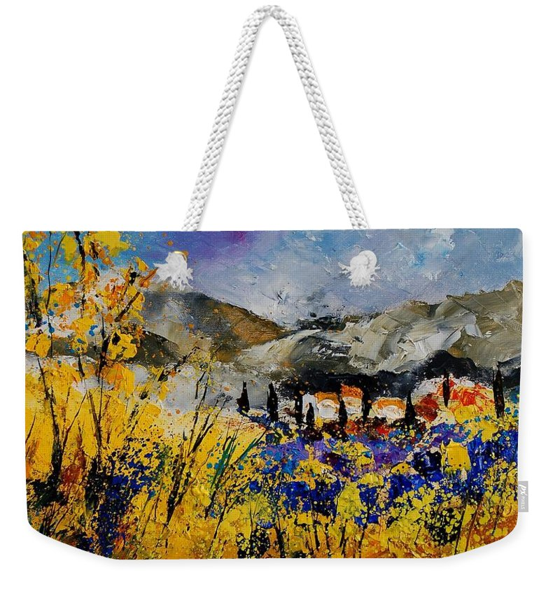Poppies Artwork Weekender Tote Bag featuring the painting Procence 569011 by Pol Ledent