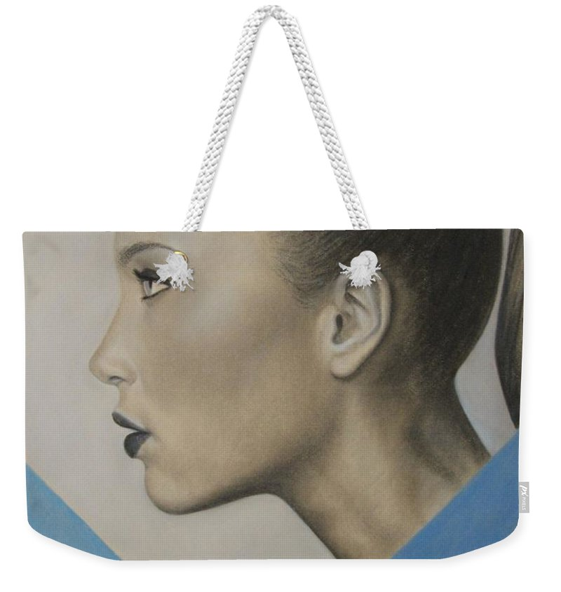 Woman Weekender Tote Bag featuring the painting Profile by Lynet McDonald