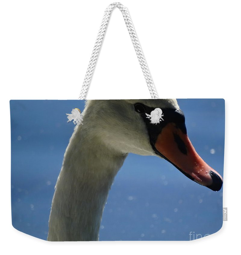 Swan Weekender Tote Bag featuring the photograph Profile Of A Swan by Gina Sullivan