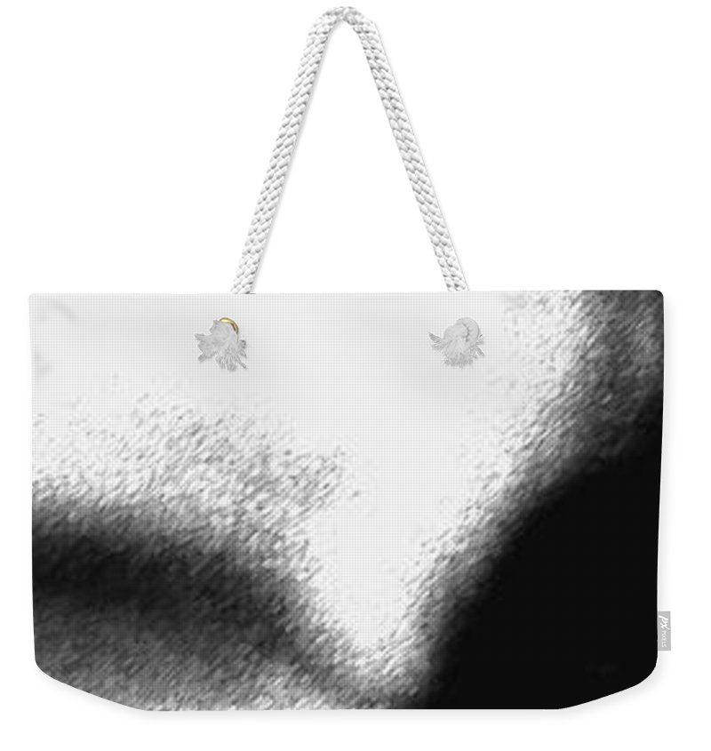 Abstract Weekender Tote Bag featuring the photograph Profiles by Amanda Barcon