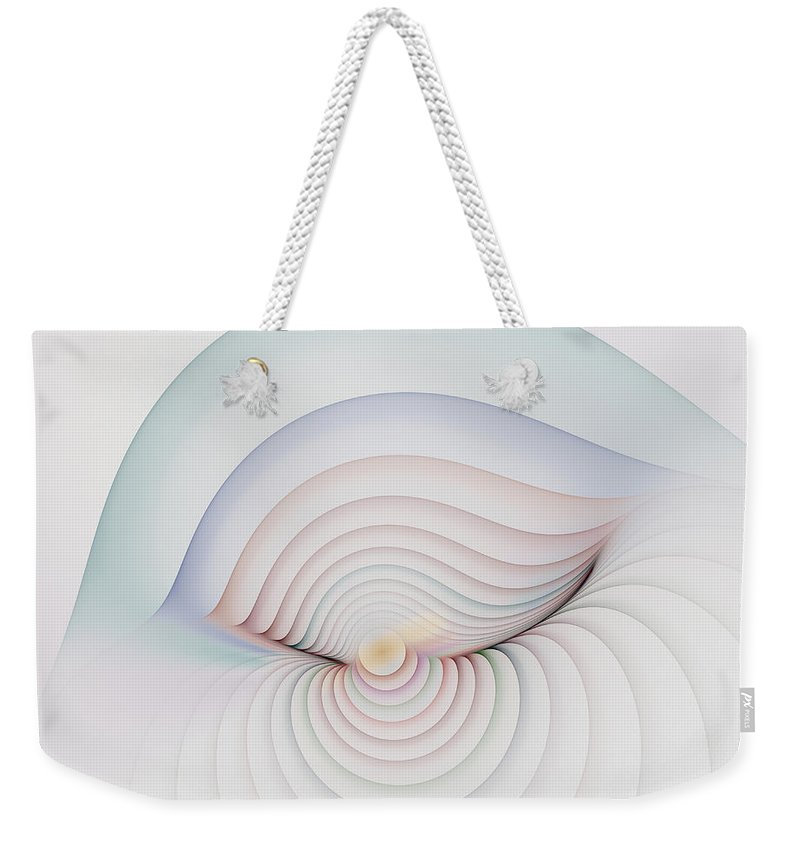 Fractal Weekender Tote Bag featuring the digital art Progression 1 by Richard Ortolano