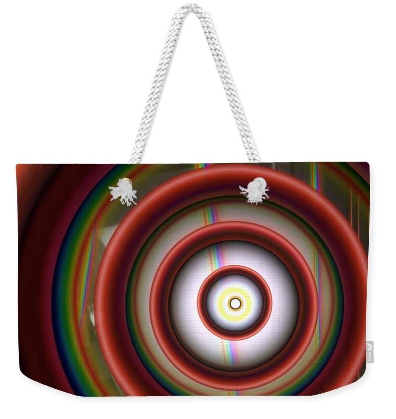 Abstract Weekender Tote Bag featuring the digital art Progression 1 by Ron Bissett
