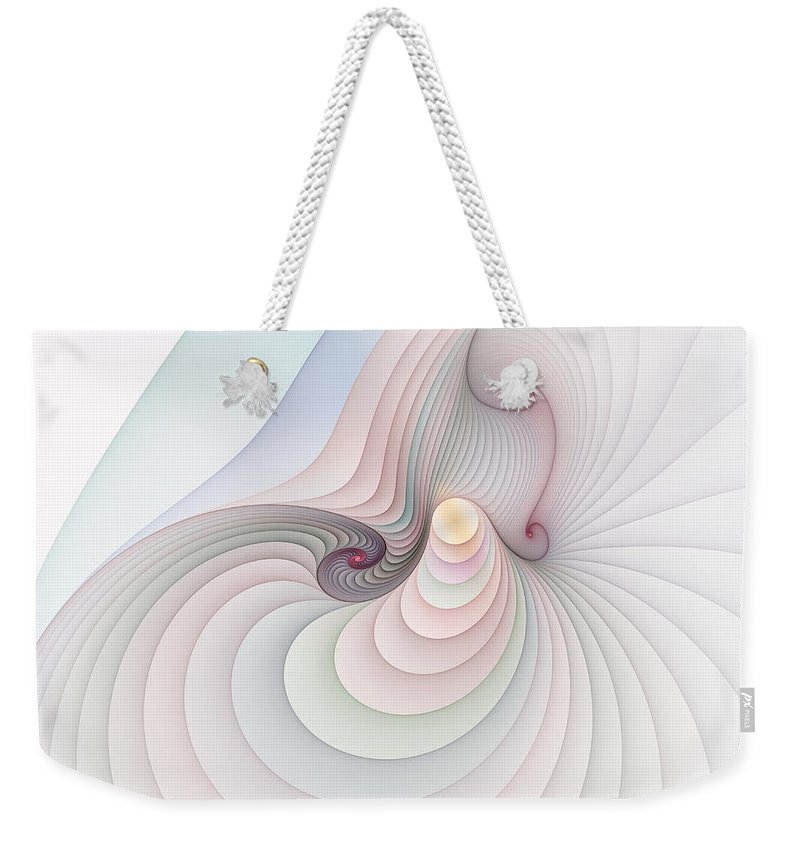 Fractal Weekender Tote Bag featuring the digital art Progression 2 by Richard Ortolano