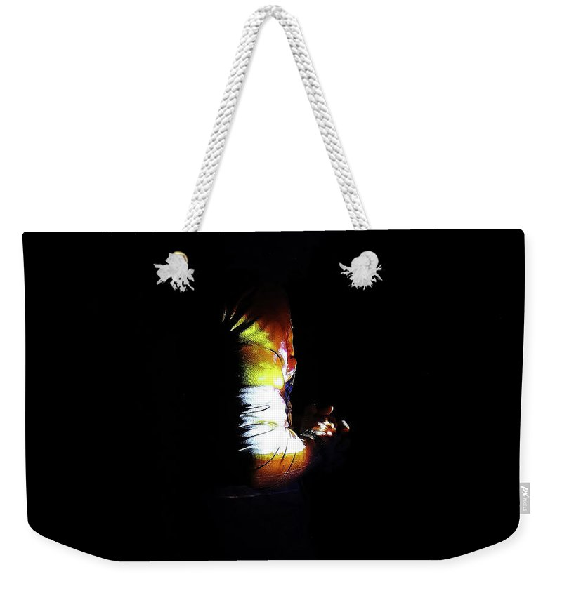 Projection Weekender Tote Bag featuring the photograph Projection - Body 4 by Conor O'Brien