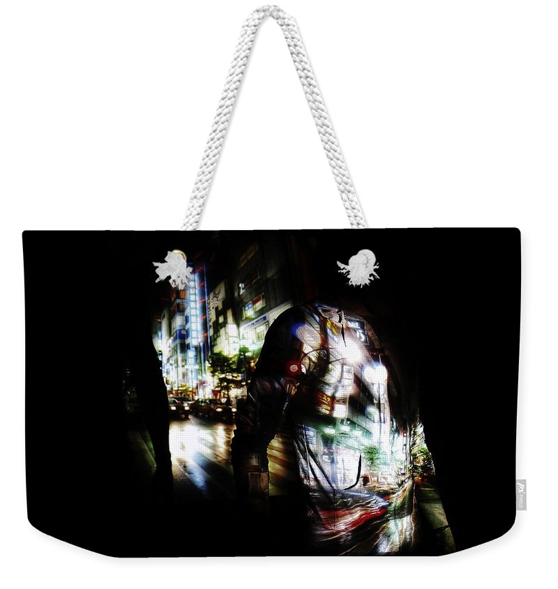 Projection Weekender Tote Bag featuring the photograph Projection - Body 2 by Conor O'Brien