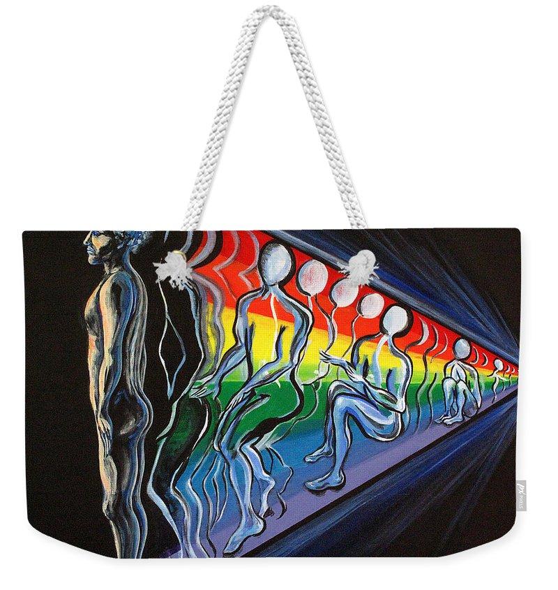 Spiritual Weekender Tote Bag featuring the painting Projection by Joyce Jackson