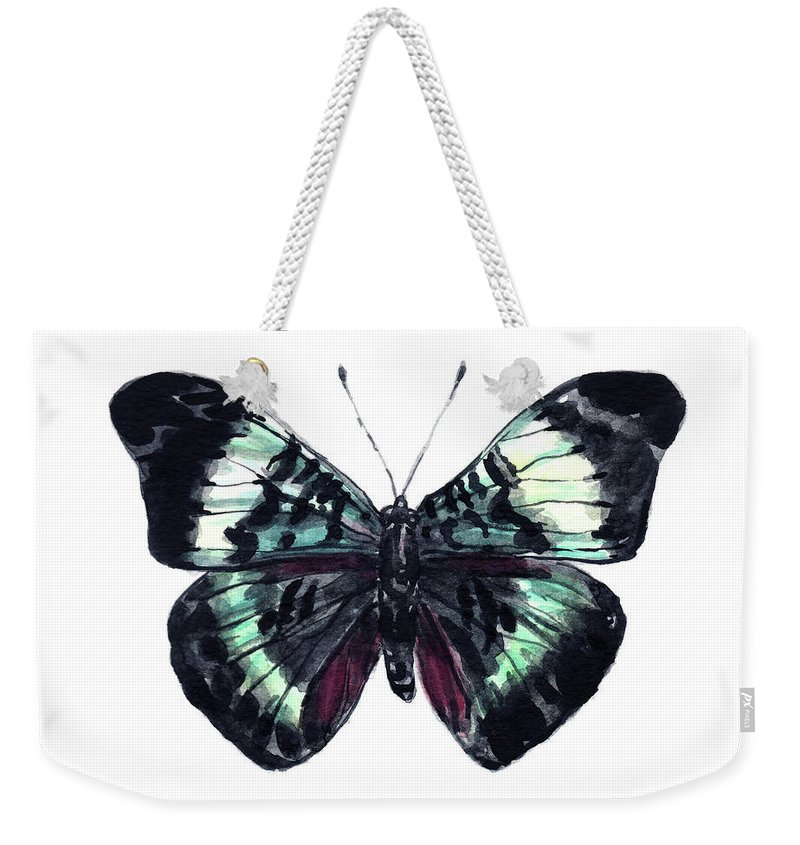 ccd662807 Butterfly Weekender Tote Bag featuring the painting Prola Beauty Butterfly  Art Butterfly Decor Wall Art Nursery
