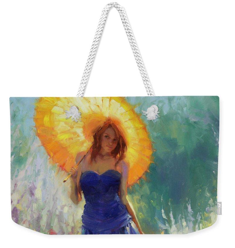 Woman Weekender Tote Bag featuring the painting Promenade by Steve Henderson