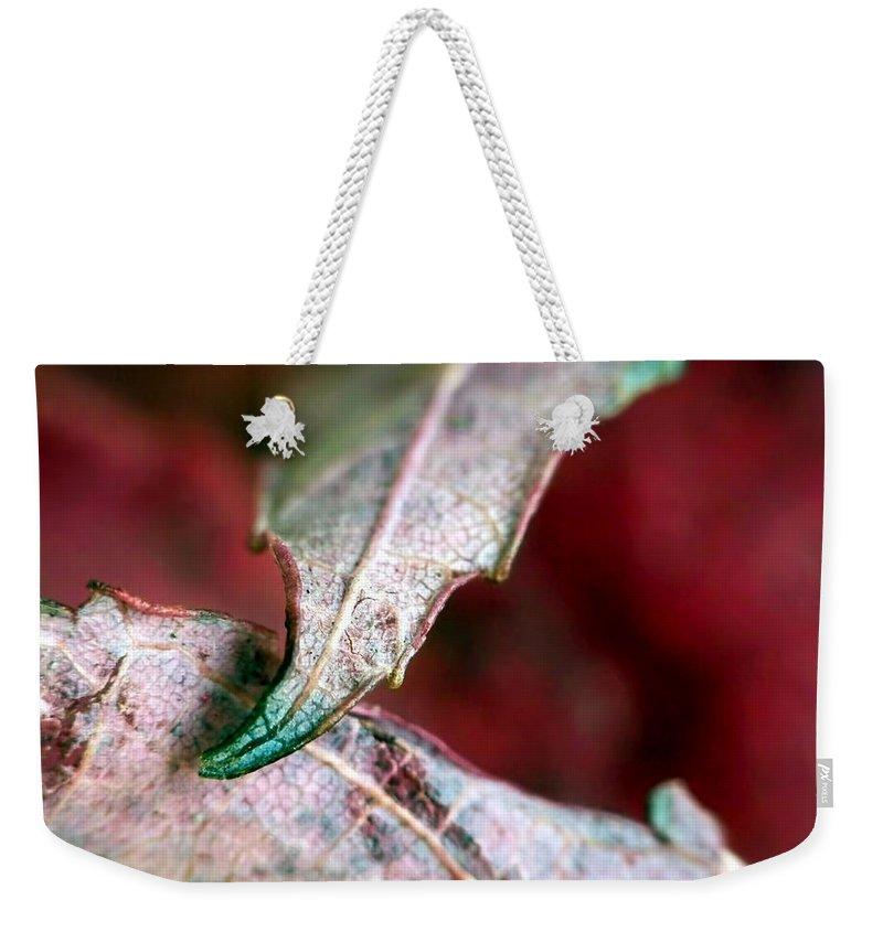Macro Weekender Tote Bag featuring the photograph Promise by Lauren Radke