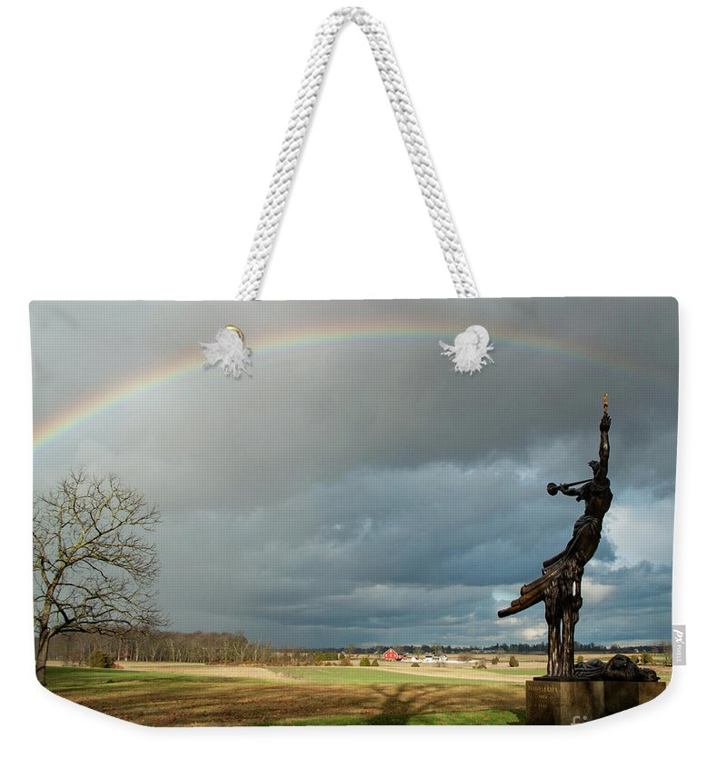 Louisiana State Monument Weekender Tote Bag featuring the photograph Promise To Gettysburg by Kat Zalewski-Bednarek