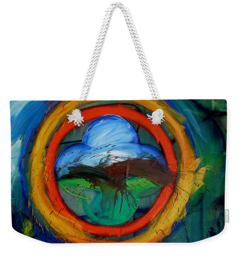 Landscape Weekender Tote Bag featuring the painting Promised Land by Charles Stuart