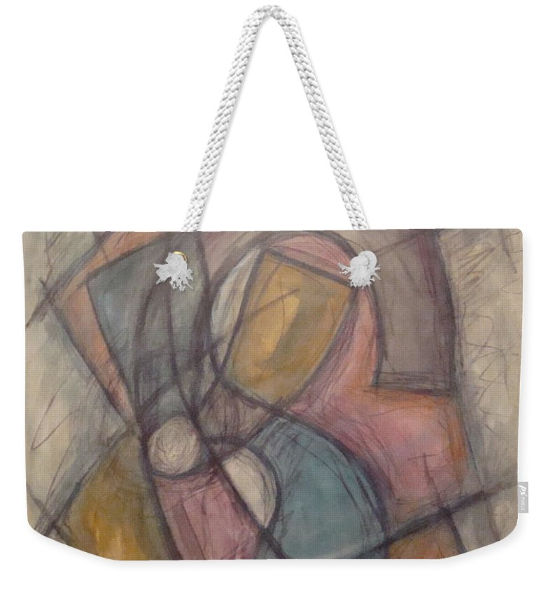 Pure Abstract Weekender Tote Bag featuring the painting Propeller by W Todd Durrance