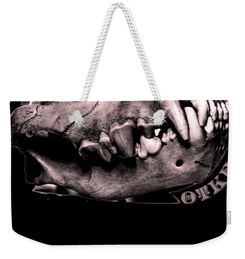 Darkness Of Women Is The Darkness Covered By Problems In Humans Weekender Tote Bag featuring the drawing Prophecy by Yudhit Hadi