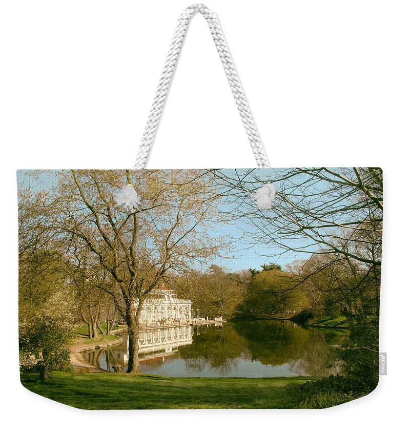 Boathouse Weekender Tote Bag featuring the photograph Prospect Park Boathouse by Jessica Jenney