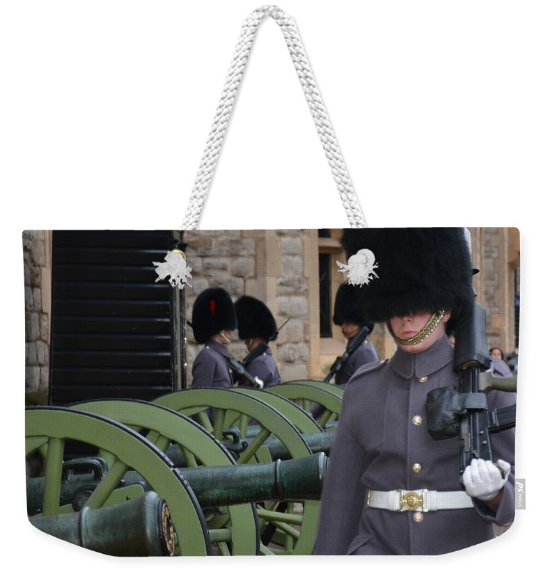 England Weekender Tote Bag featuring the photograph Protecting The Tower Of London by Diane Berard