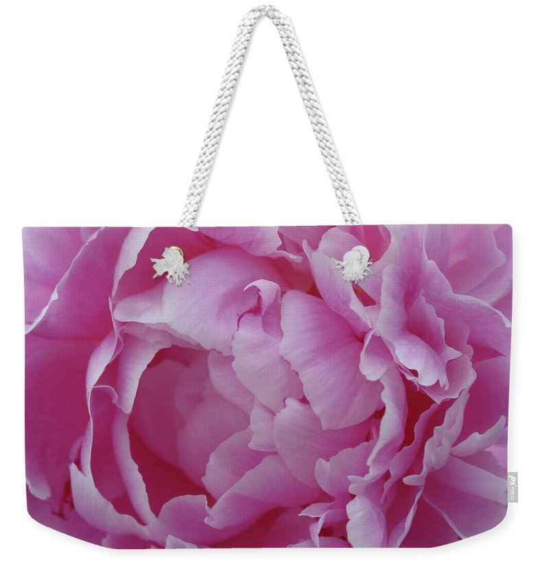 Flower Weekender Tote Bag featuring the photograph Proud Peony by Cheryl O'Neil