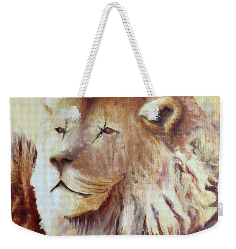 Animal Weekender Tote Bag featuring the painting Proud by Todd Blanchard
