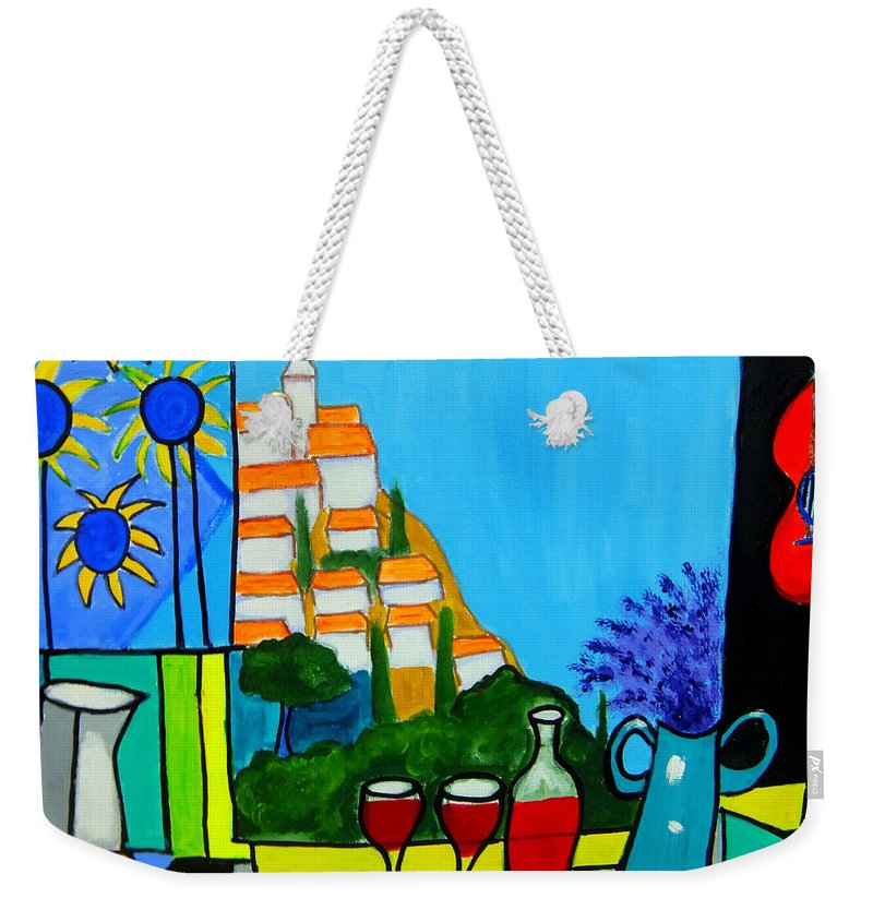 Provence Weekender Tote Bag featuring the painting Provencal Abstractions by Rusty Gladdish