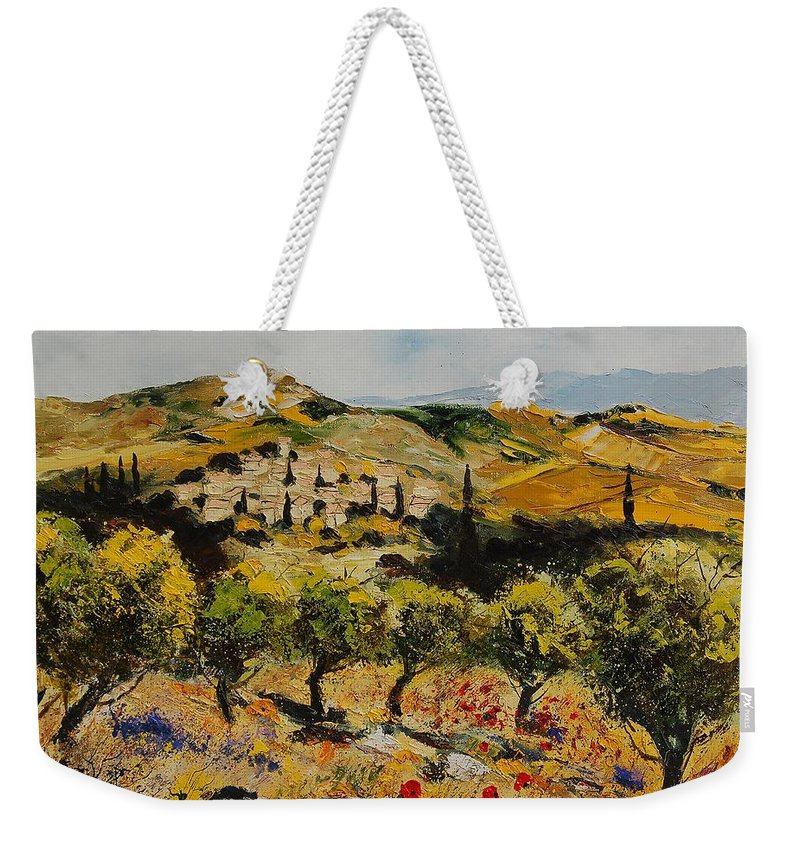 Provence Weekender Tote Bag featuring the painting Provence 10080 by Pol Ledent