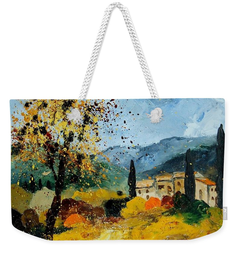 Provence Weekender Tote Bag featuring the painting Provence 45 by Pol Ledent