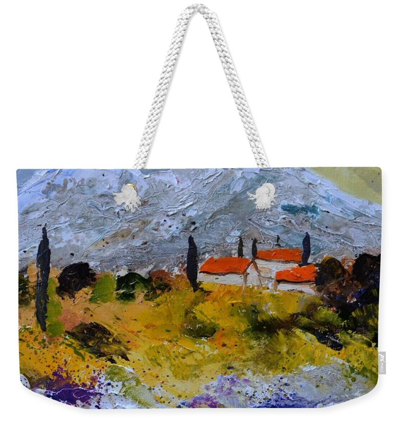 Landscape Weekender Tote Bag featuring the painting Provence 455140 by Pol Ledent