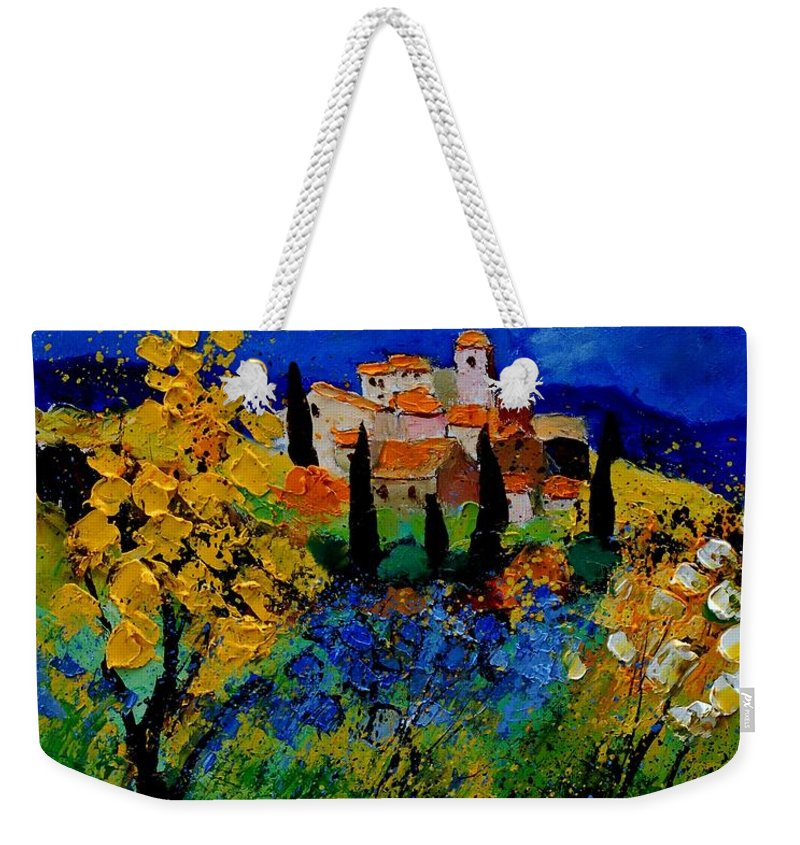 Poppies Weekender Tote Bag featuring the painting Provence 459001 by Pol Ledent