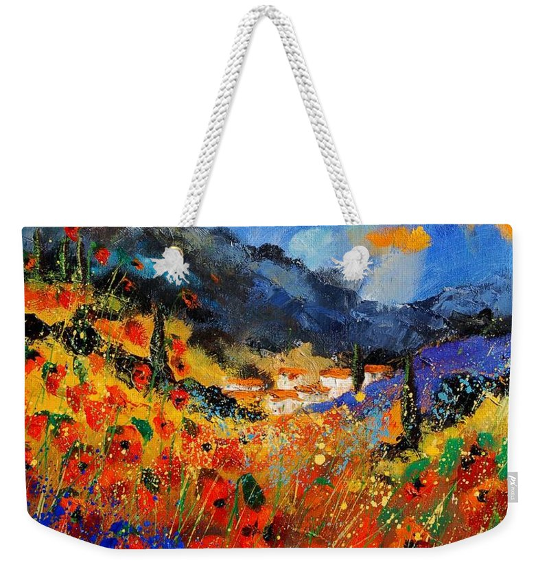 Weekender Tote Bag featuring the painting Provence 459020 by Pol Ledent