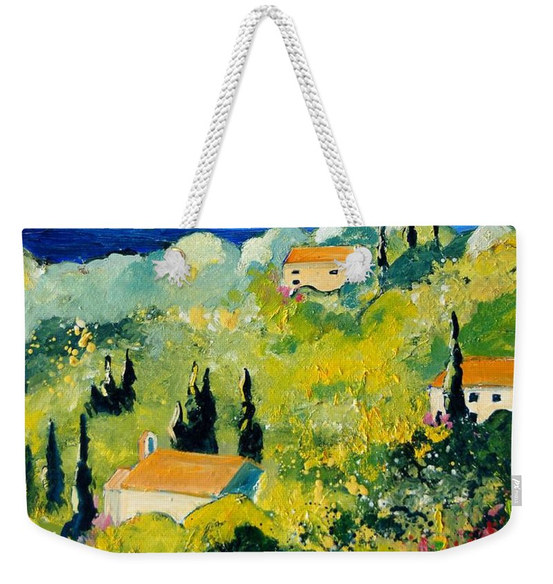 Village Weekender Tote Bag featuring the painting Provence 459070 by Pol Ledent
