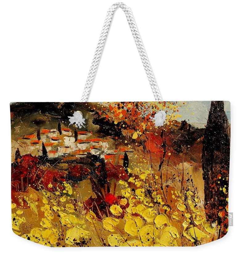 Provence Weekender Tote Bag featuring the painting Provence 459080 by Pol Ledent