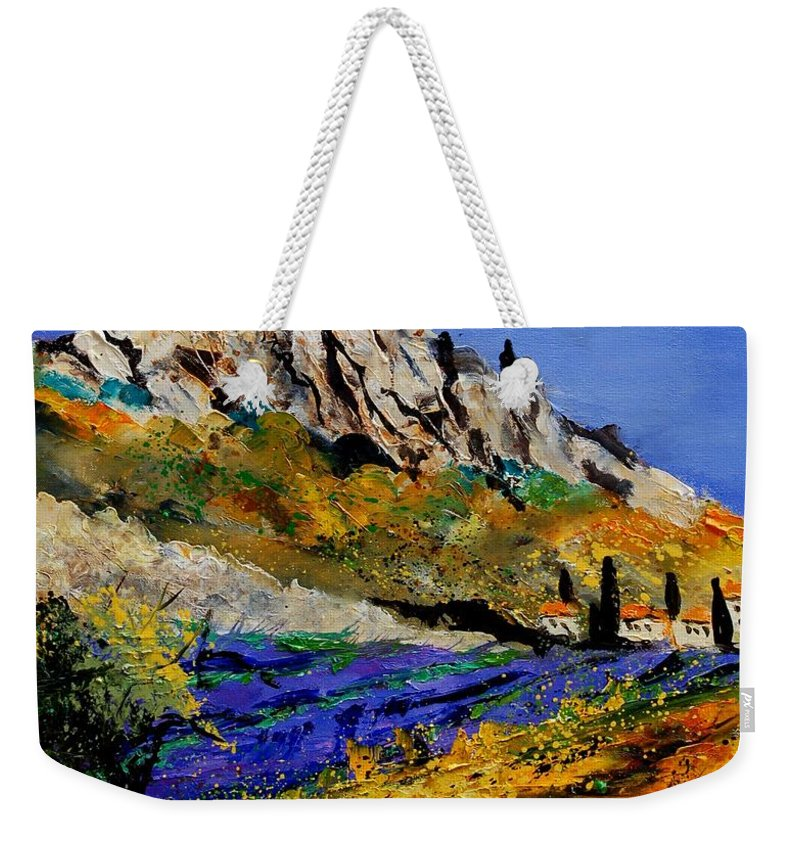 Flowers Weekender Tote Bag featuring the painting Provence 560908 by Pol Ledent