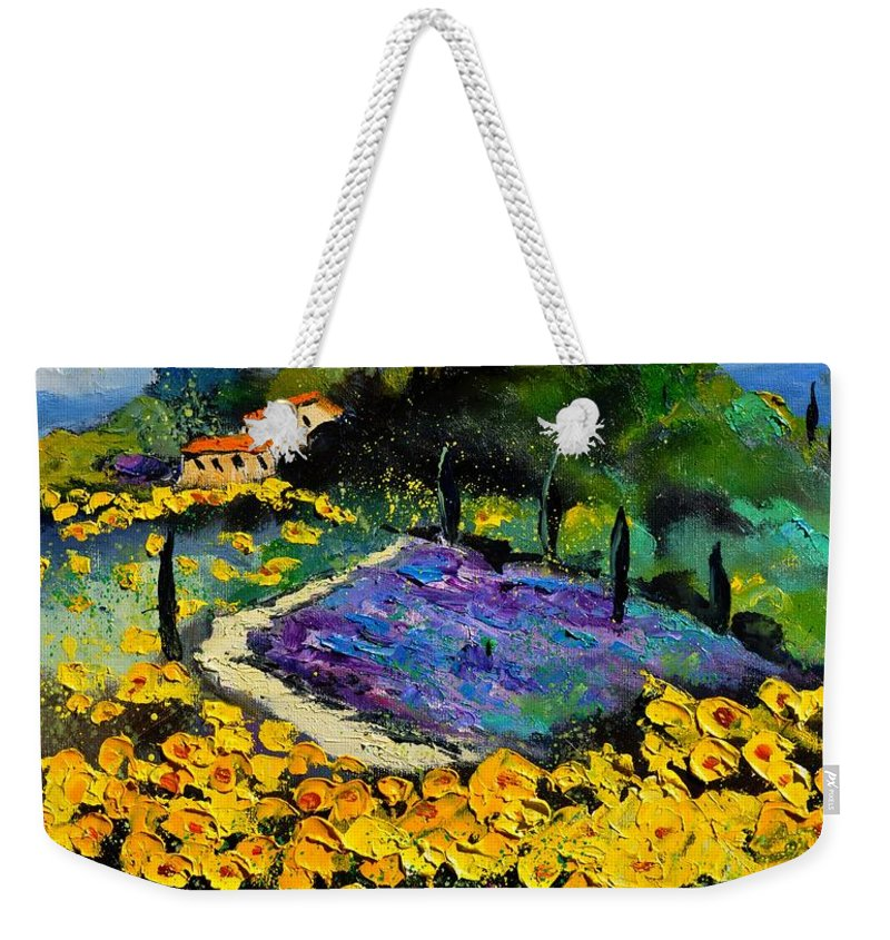 Landscape Weekender Tote Bag featuring the painting Provence 561140 by Pol Ledent