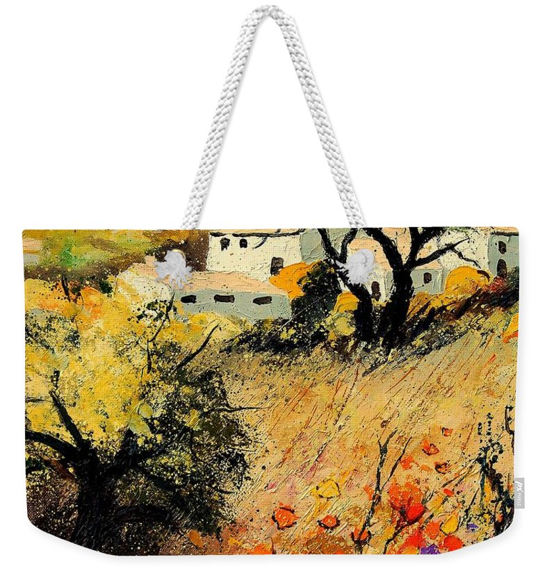 Provence Weekender Tote Bag featuring the painting Provence 56123 by Pol Ledent