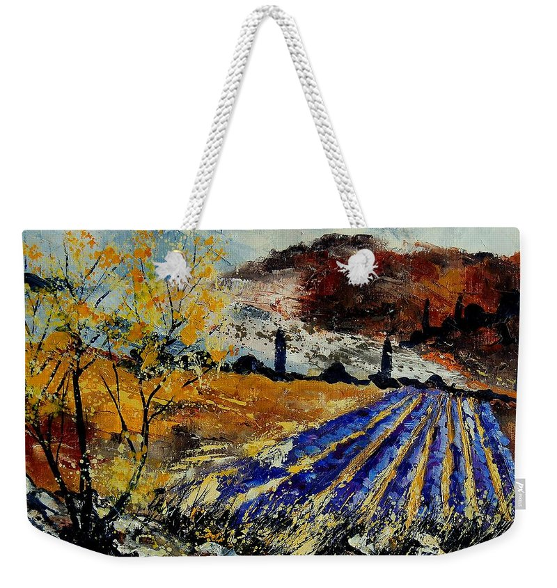 Provence Weekender Tote Bag featuring the painting Provence 564578 by Pol Ledent