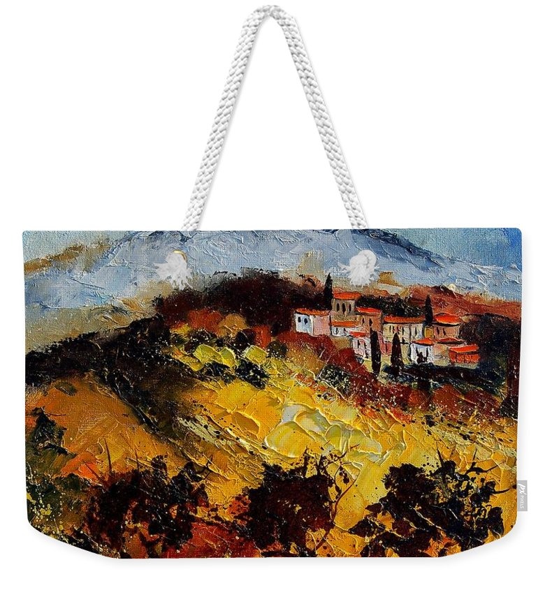 Provence Weekender Tote Bag featuring the painting Provence 5678952 by Pol Ledent