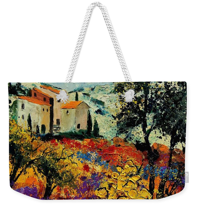 Provence Weekender Tote Bag featuring the painting Provence 56900192 by Pol Ledent