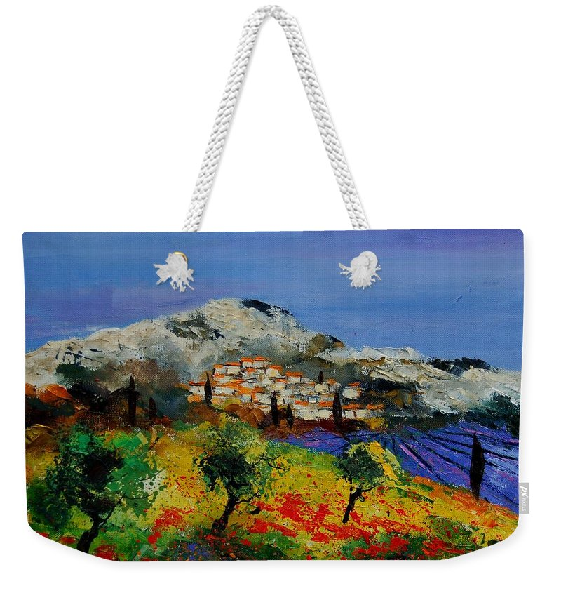 Provence Weekender Tote Bag featuring the painting Provence 569010 by Pol Ledent