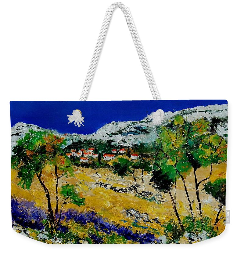 Provence Weekender Tote Bag featuring the painting Provence 569060 by Pol Ledent