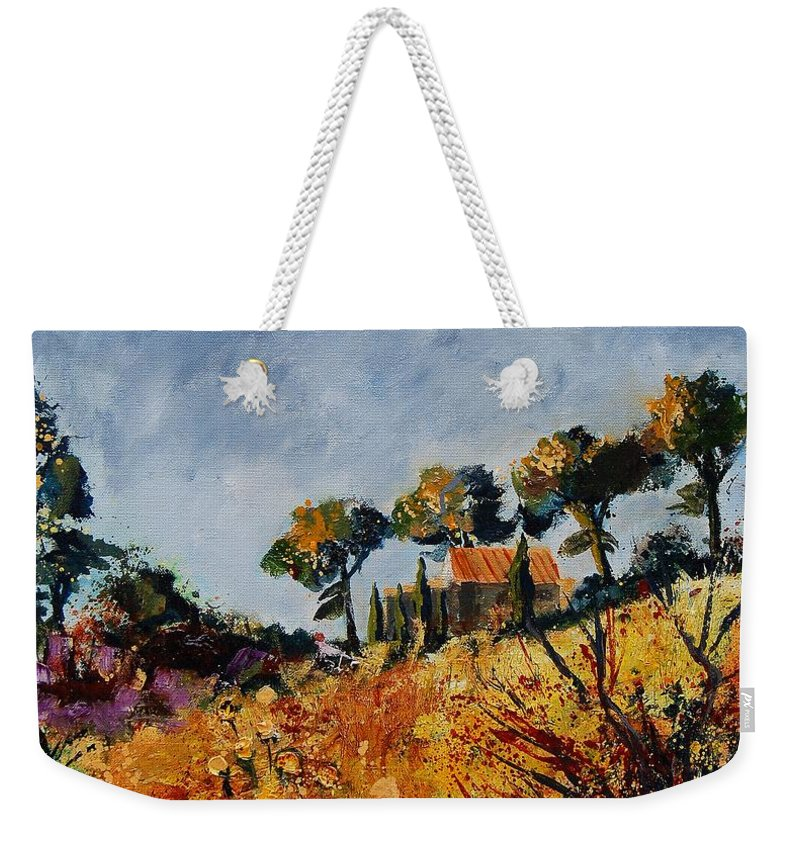Provence Weekender Tote Bag featuring the painting Provence 6741254 by Pol Ledent