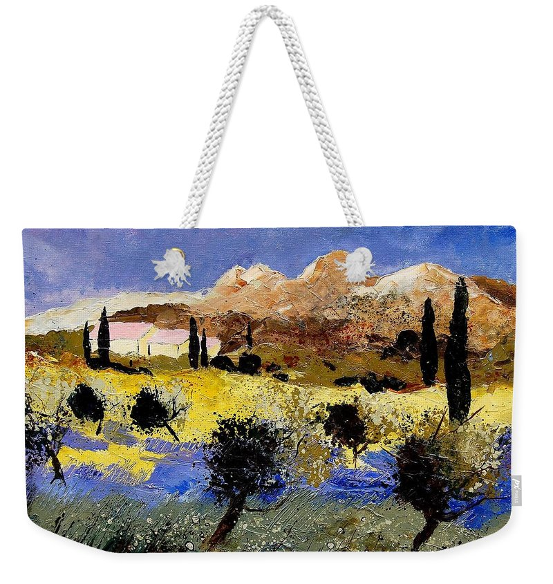 Provence Weekender Tote Bag featuring the painting Provence 674525 by Pol Ledent