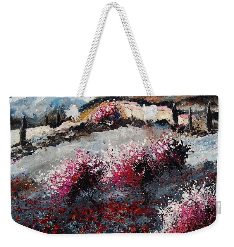 Provence Weekender Tote Bag featuring the painting Provence 675458 by Pol Ledent