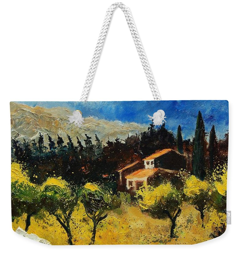 Provence Weekender Tote Bag featuring the painting Provence 678965 by Pol Ledent