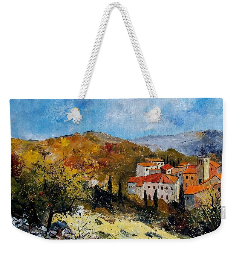 Provence Weekender Tote Bag featuring the painting Provence 679050 by Pol Ledent