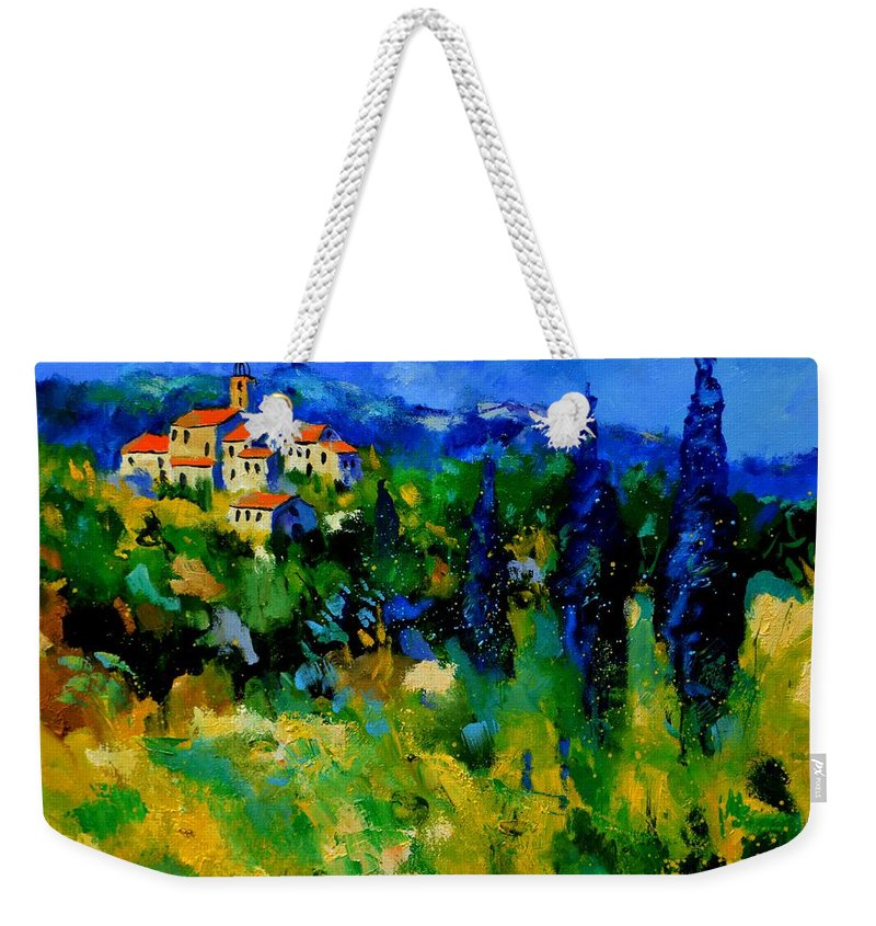 Landscape Weekender Tote Bag featuring the painting Provence 768110 by Pol Ledent